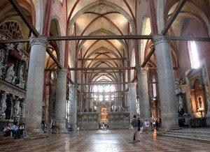 Basilica di Santa Maria Gloriosa dei Frari foscari peterson interior IISIS image